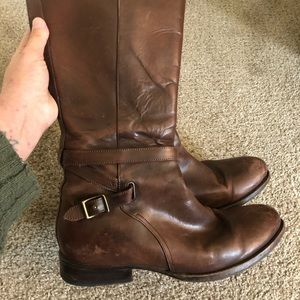 Frye leather boots size 10